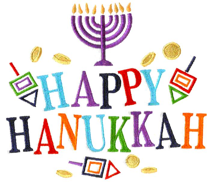 Happy-Hanukkah- embroidered art