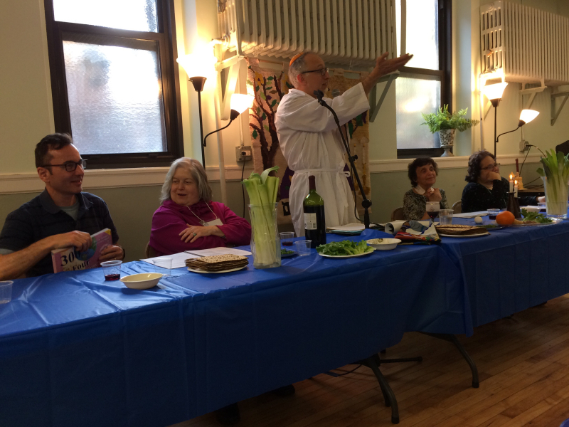 2017 Passover Rabbi and head table
